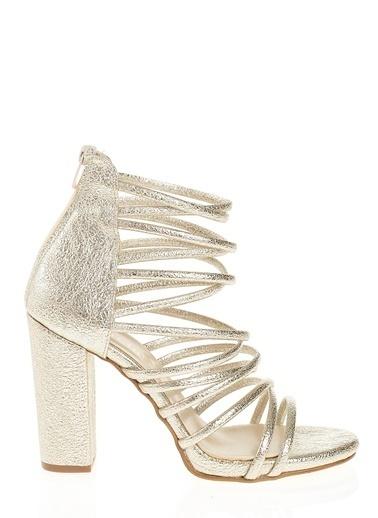 D by Divarese Kalın Topuklu Ayakkabı Sarı